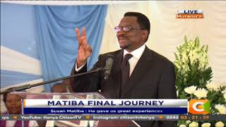 James Orengo's short, striking speech at Matiba's memorial service