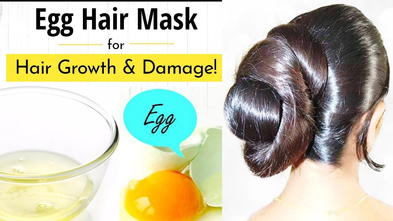 Natural caring products: egg masks for hair