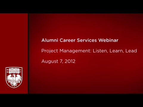 Project Management Listen Learn Lead