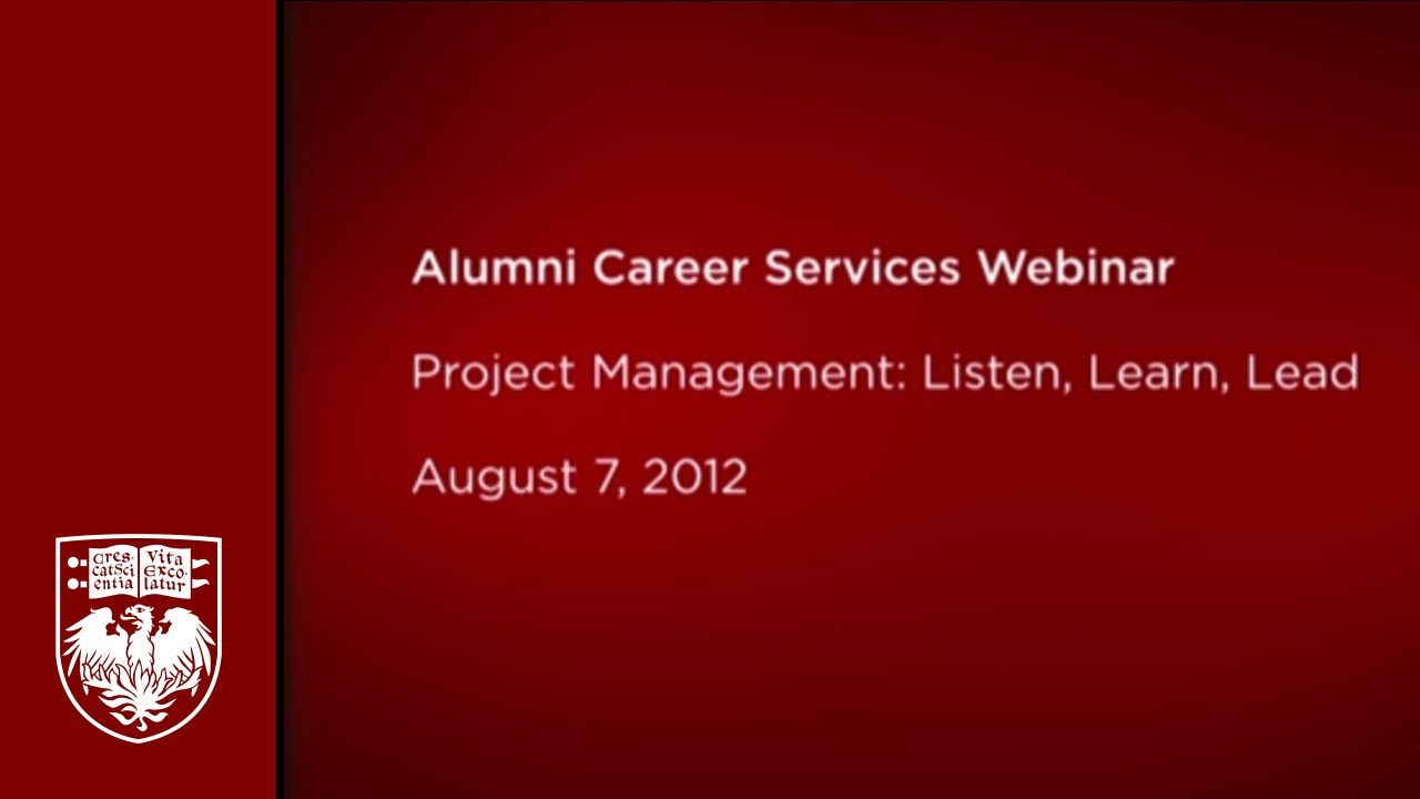 Project Management Listen Learn Lead Youtube