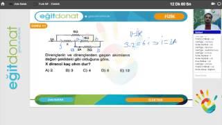 YGS Fizik Elektrik Konusu part 2 Ücretsiz İzle - Uzaktan Eğitim