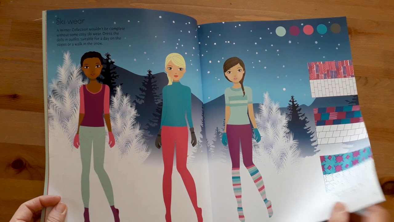 Sticker Dolly Dressing Fashion Designer Winter Collection Usborne Youtube