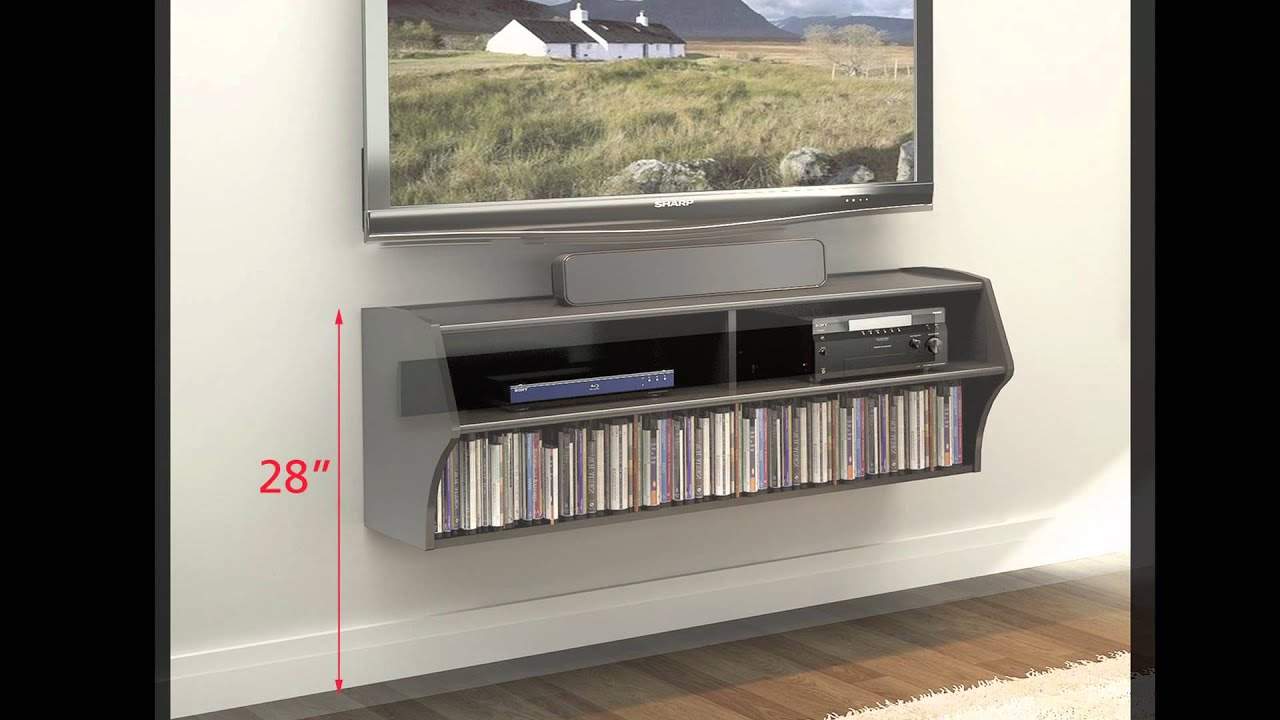 Wall Hanging Entertainment Center how to install prepac's wall mounted products - youtube