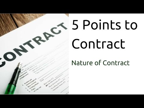 5 Points to Contract   Nature of Contract   Indian Contract Act Law   CA CPT   CS & CMA Foundation