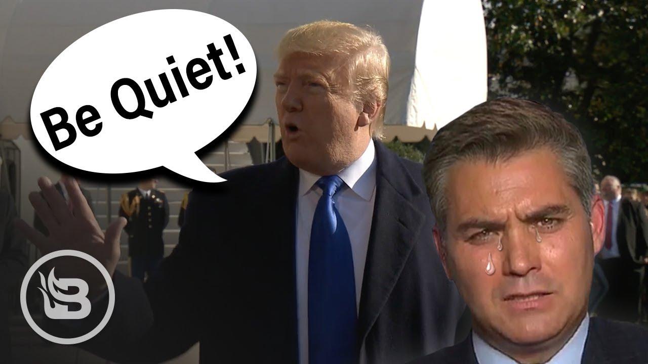 "Trump Snaps at Media: ""Be Quiet! Be Quiet!"""