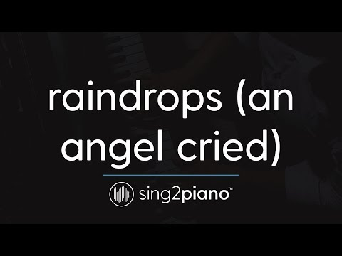 raindrops (an angel cried) [Piano Karaoke Instrumental] Ariana Grande