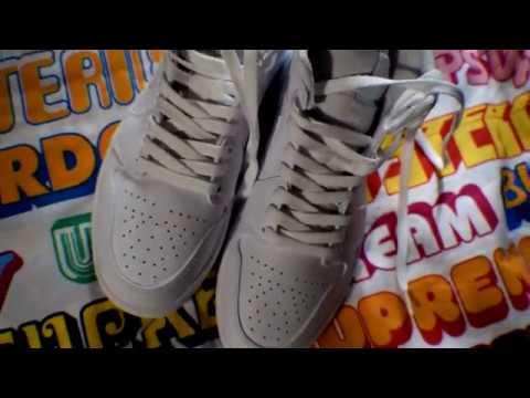 cfbd298edb968 Air Jordan1 Mid White Pure Platinum-White NEW