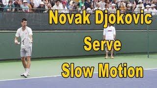 Novak Djokovic Serve Slow Motion - BNP Paribas Open 2013