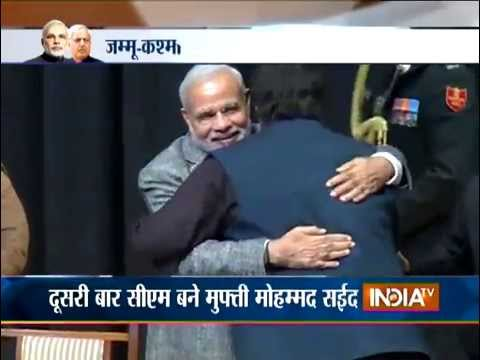 BJP-PDP Government in J&K: Mufti Mohammad Sayeed Takes Oath as CM - India TV