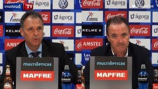 Rueda de prensa post-partido Levante UD 4 - RCD Mallorca 0 // J15 LigaBBVA 2012-2013