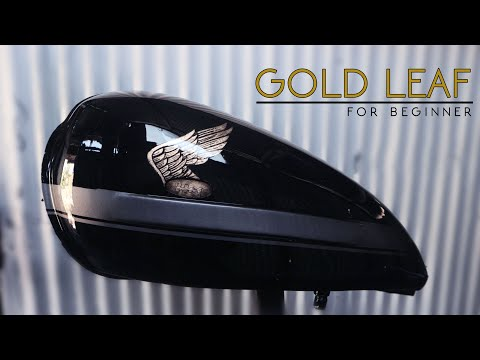 Easy Gold Leaf Application on Motorcycle