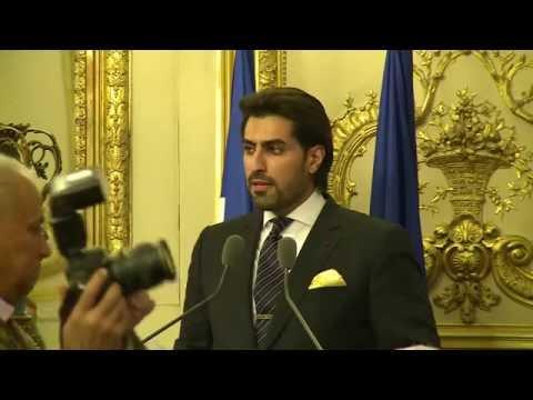 Prince Salman bin Abdulaziz, a ceremony at the French Senate