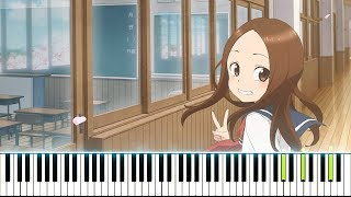 Karakai Jouzu No Takagi-san Season 2 OP - Zero Centimeters - Yuiko Ohara (Synthesia Piano Tutorial)