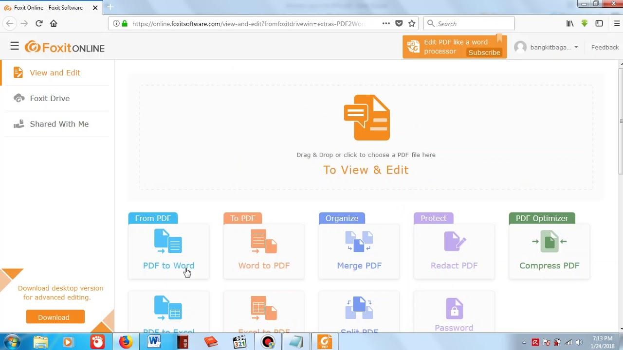 convertire da pdf a word online