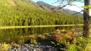 Озеро за мысом Заворотный (Байкал)(Видео из отчета: Путешествие по Байкалу на лодке 2014 или