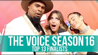 Gambar cover THE VOICE SEASON 16 | Backstage with the TOP 13 CONTESTANTS with AMY CASSANDRA