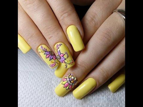 yellow nails - summer nail art