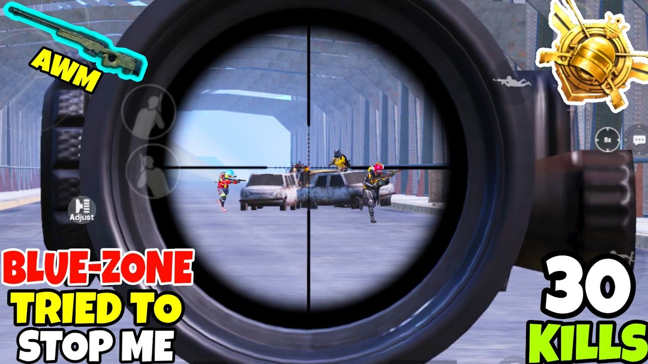 Blue-Zone Tried To Stop My SNIPING And This Happened in PUBG Mobile • (30 KILLS) • PUBGM (HINDI)