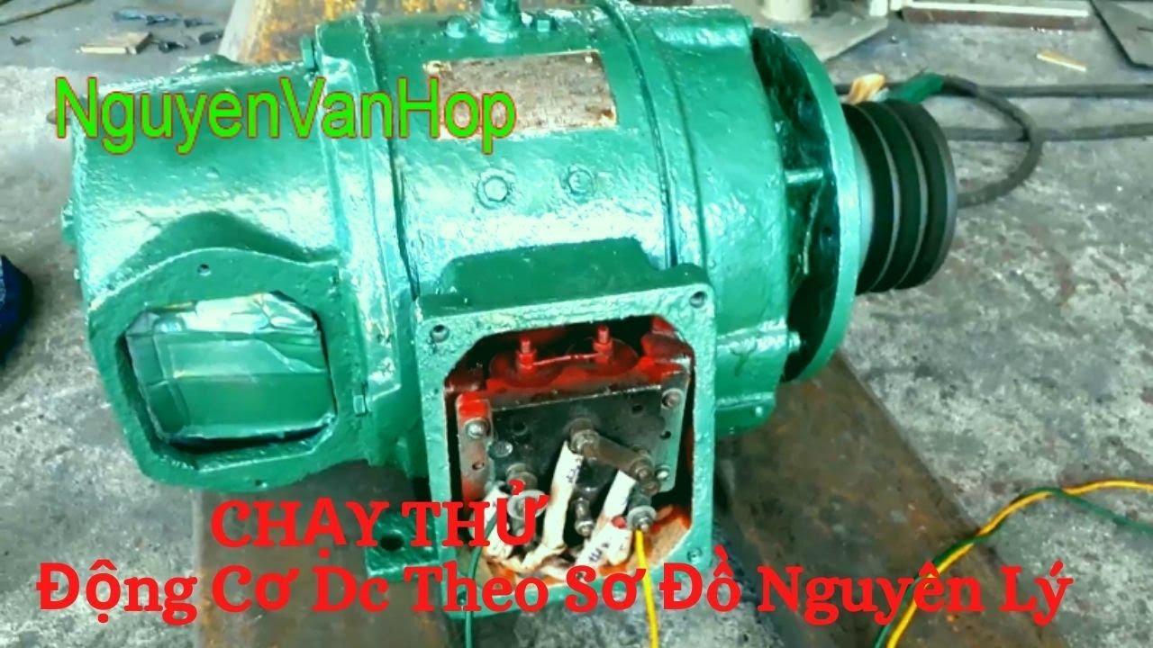 Vẽ Sơ Đồ Nguyên Lý Chạy Thử Động Cơ Điện Dc 8.6 Kw- Sửa Chữa Máy Điện