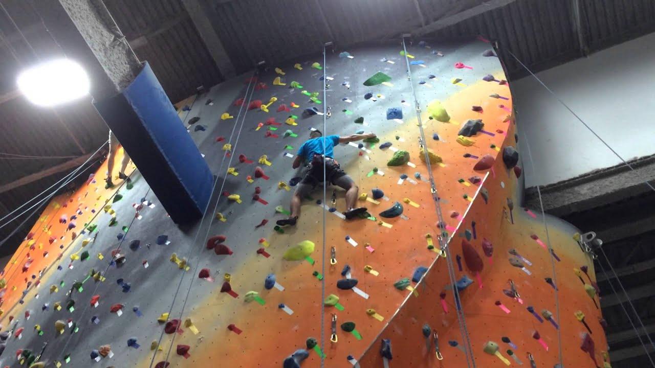 July 2014 Indoor Rock Climbing at the Cliffs LIC Daniel