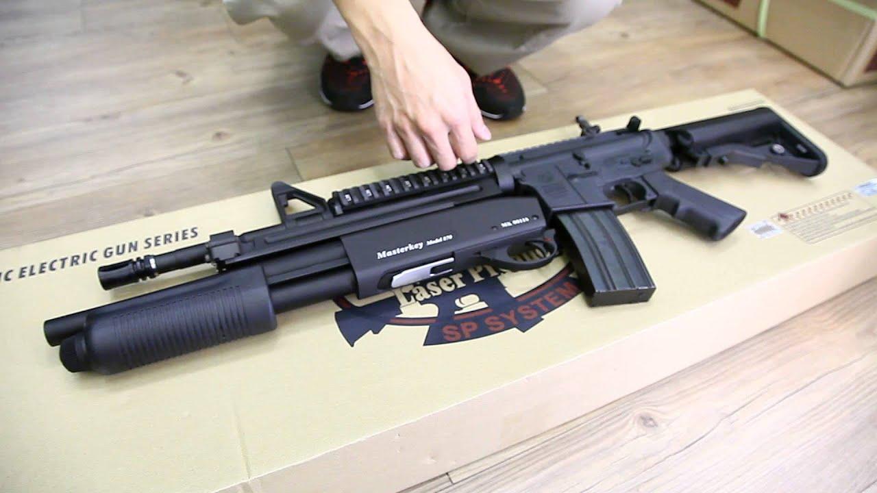 G Amp P Masterkey M4a1 Colt Crw Airsoft Com Youtube