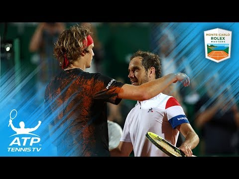 Gasquet wins epic rally against Zverev in 2018 Monte-Carlo Quarter-Final