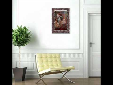 Orchestra Movements In Red Musical Metal Wall Art Decor Hanging.wmv