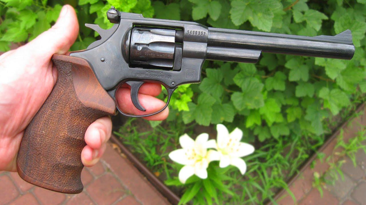 """Обзор револьвера Weihrauch HW4 c 6"""" дулом, под патрон флобера 4мм"""