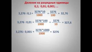 Умножение и деление на 0,1; 0,01; 0,001; ...