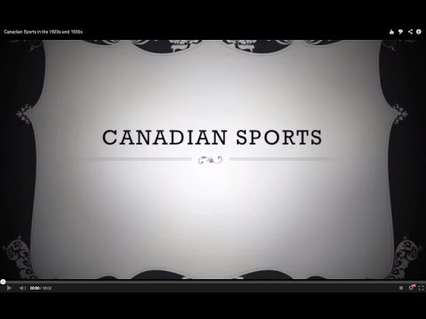 Canadian Sports in the 1920s and 1930s