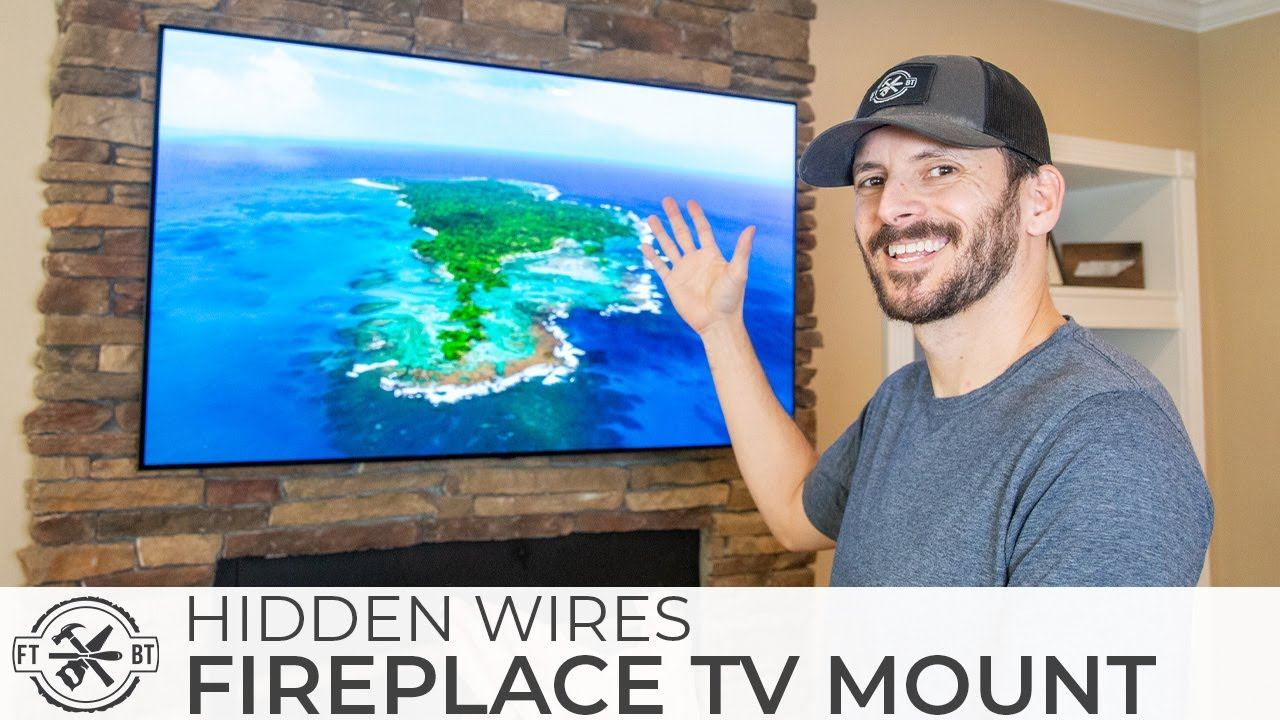 How To Mount A Tv Above A Fireplace And Hide Wires Youtube