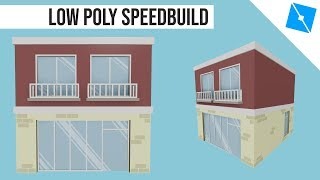 Roblox Mini Builds - Low Poly Shop Speed Build