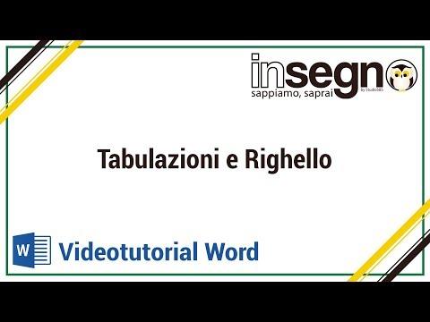 Word: tabulazioni e righello