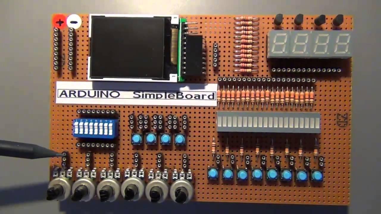 arduino projekt kapitel 43 das arduino simpleboard youtube. Black Bedroom Furniture Sets. Home Design Ideas