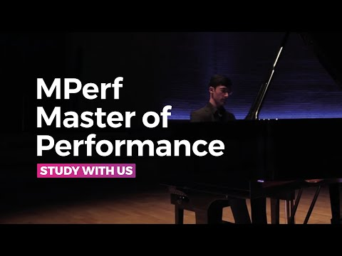 RNCM Master of Performance Master's degree / MPerf