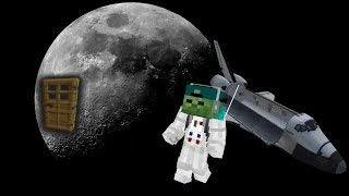 MARK MY FRIENDLY ZOMBIE MAKES A HOUSE ON THE MOON IN MINECRAFT!! BUILDING CHALLENGE!! Minecraft Mods