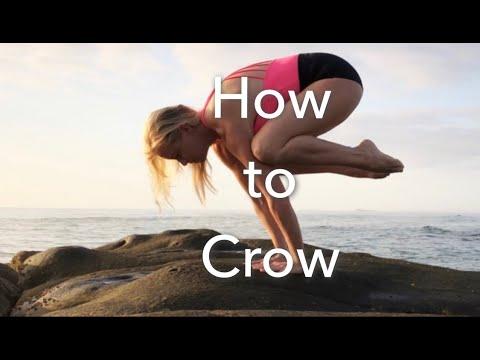 how to crow pose  yoga arm balance pose tutorial  youtube