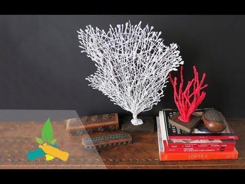 How to make a red coral tree   DIY Tutorial