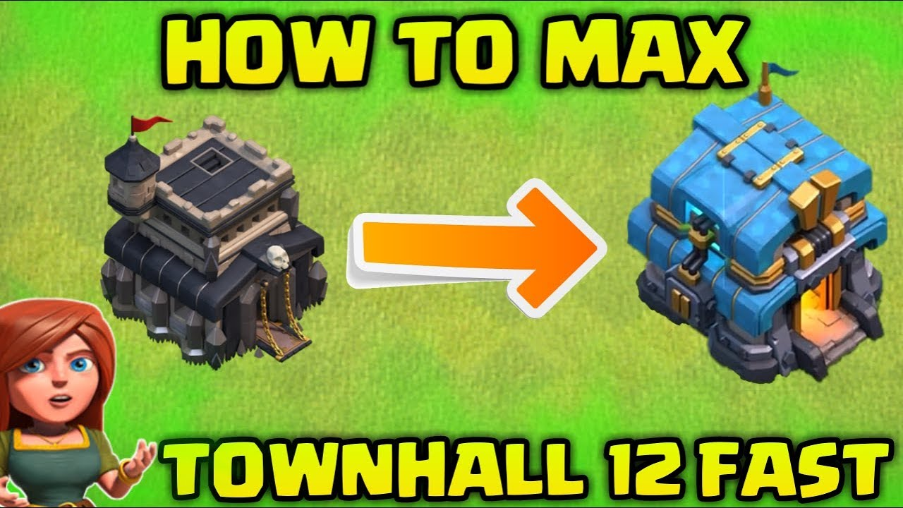 How to Max Townhall 12 Fast in Clash Of Clans !