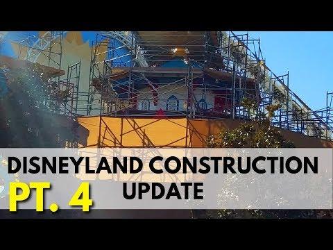 Disneyland and Pixar Pier Construction update - Main Street , Pixar Pier, Dumbo   02/17/18 pt 4