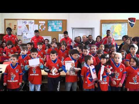 Euforia na visita do Gil Vicente F.C. à escola de Alvito (São Pedro)