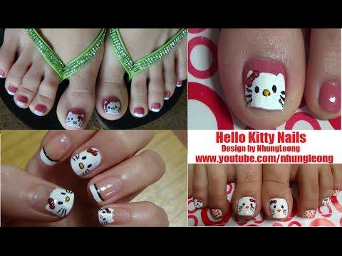 Nail Art For Beginners – Vẽ Móng Chân & Móng Tay Mèo Hello Kitty Dễ Thương | Yêu Làm Đẹp