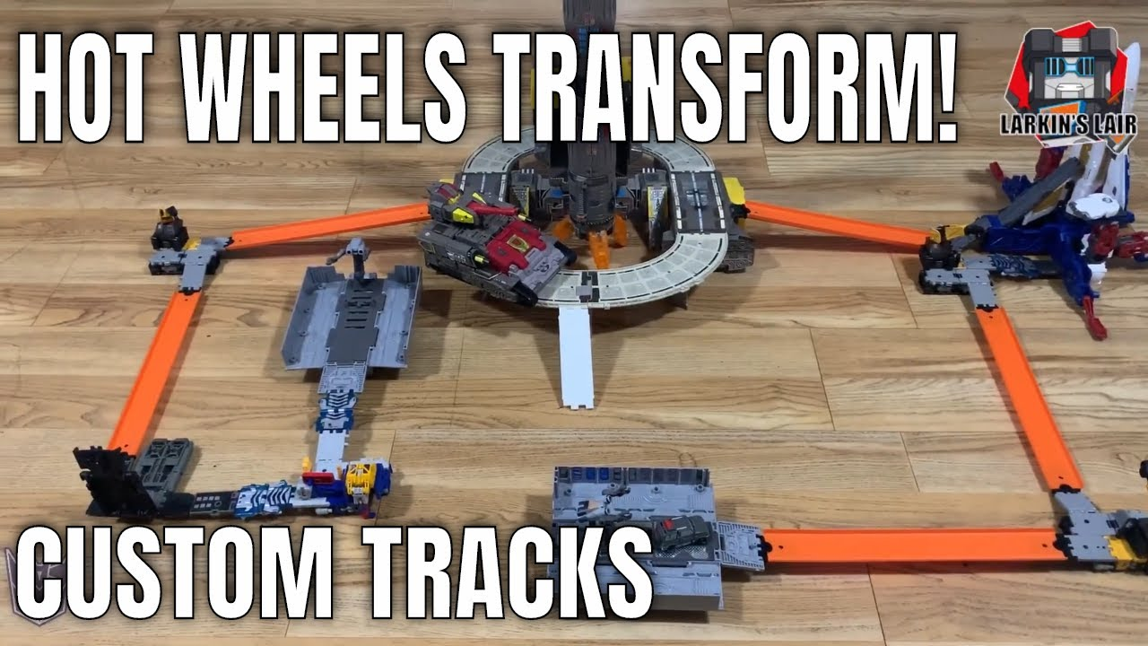 3D Printed Hot Wheels Track Adapters for Siege & Earthrise Ramps by Larkin's Lair