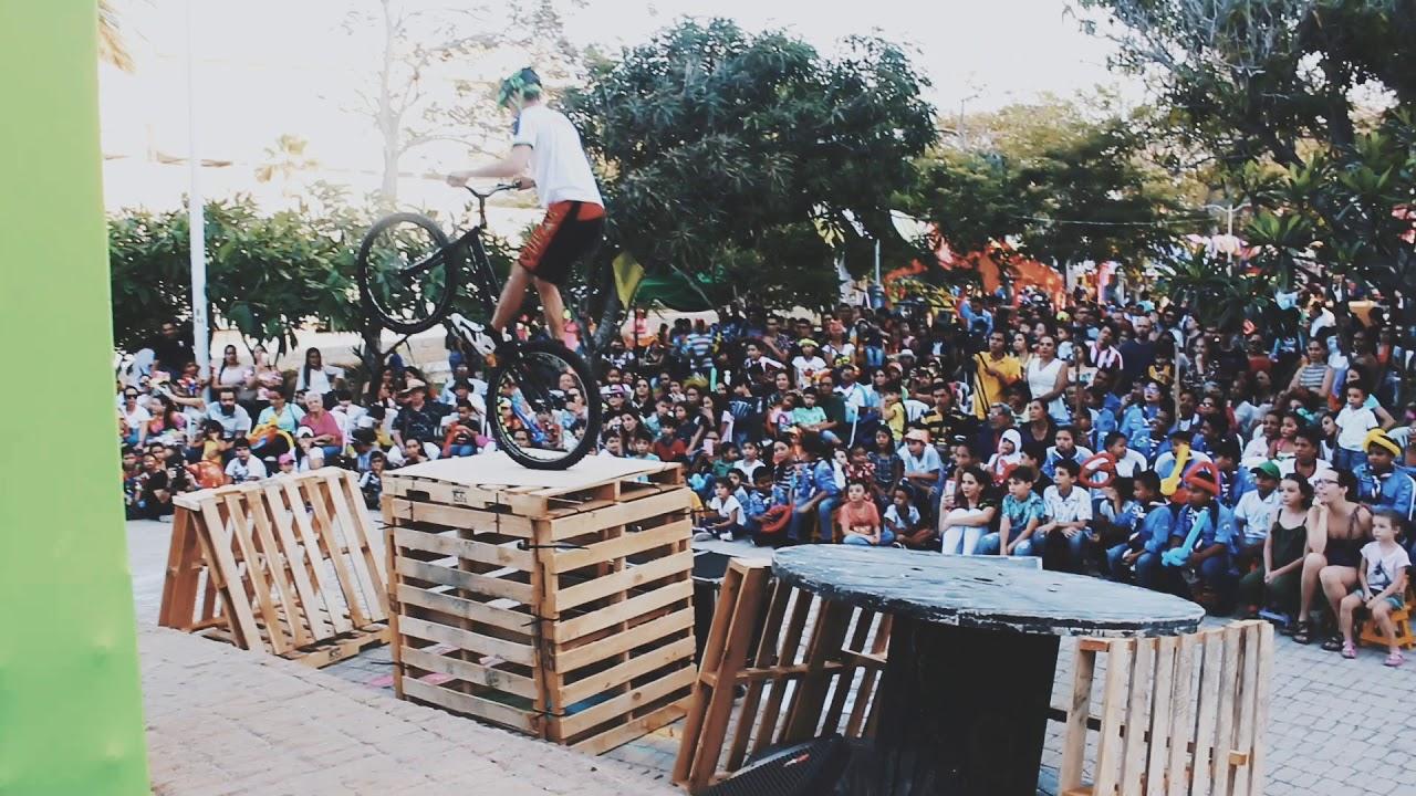 show ciclismo extremo en Carnaval artes Barranquilla
