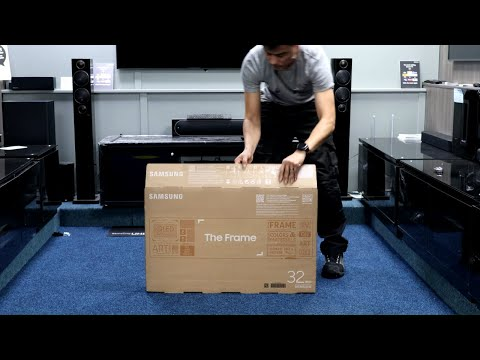 """Samsung The Frame 2020 32"""" Unboxing, No-Gap Wall Mount and Setup"""