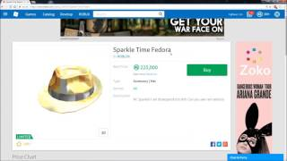 ROBLOX Item Analysis - Sparkle Time Fedora