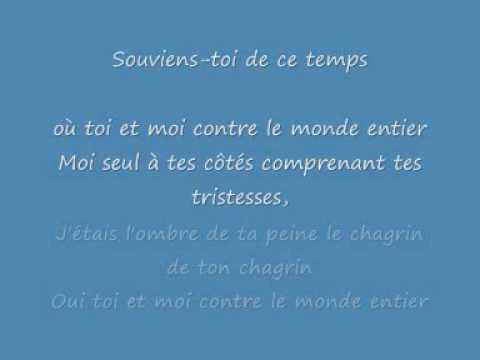 toi et moi contre le monde entier (paroles) Claude François