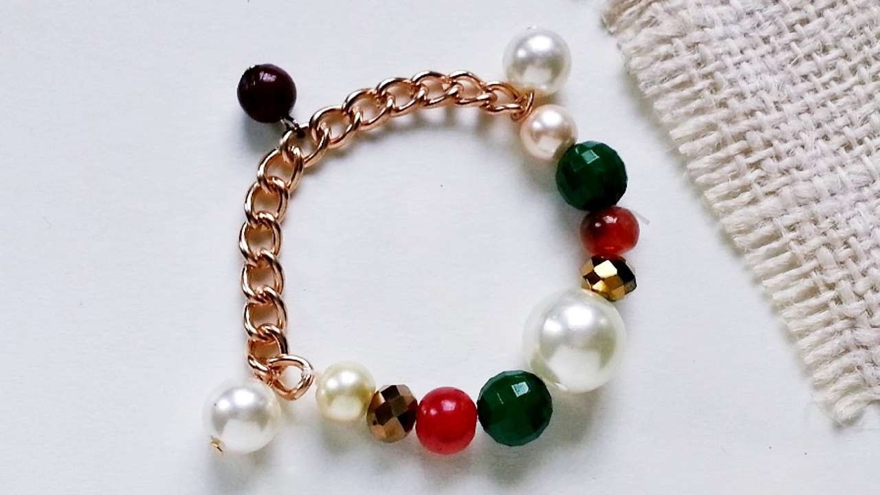 How To Create A Beaded Chain Charm Bracelet Diy Crafts Tutorial Guidecentral You