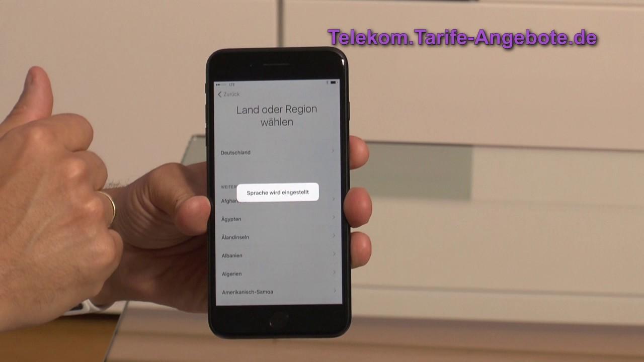 Iphone 7 Sim Karte Einlegen.Einrichtung Apple Iphone 7 Plus Sim Karte Einlegen Und Inbetriebnahme