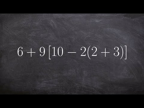 Using The Order Of Operations For An Expression With Two Parentheses